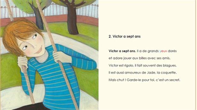 Page du livre Victor et les amulettes