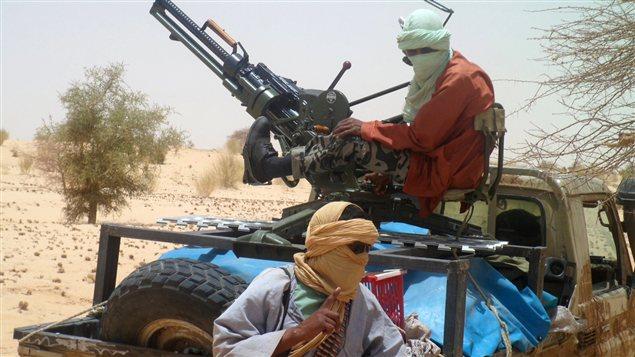 Des islamistes d'Ansar Dine près de Gao dans le nord du Mali