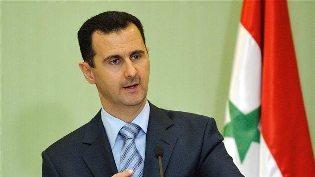 Le président syrien Bachar Al-Assad lors d'une conférence de presse en janvier 2009.