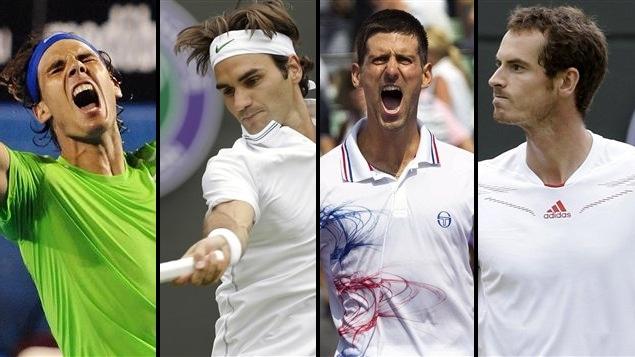 Rafael Nadal, Roger Federer, Novak Djokovic et Andy Murray.