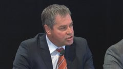 Le ministre de la Santé et de Services sociaux, Yves Bolduc.
