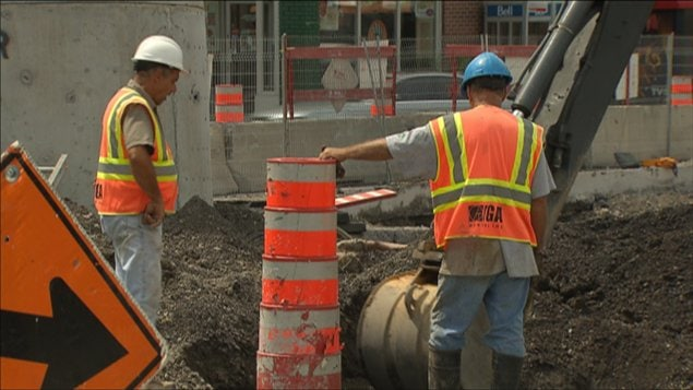 Des travailleurs de la construction