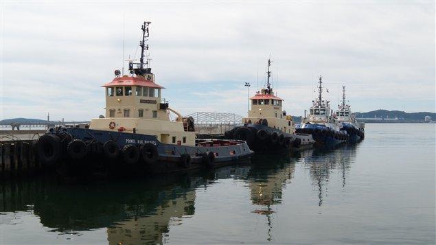 Dans le port de Sept-Îles