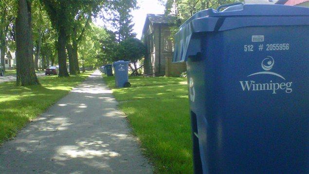 Poubelles de recyclage de la Ville de Winnipeg