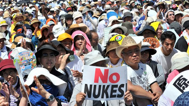 Des dizaines de milliers de personnes manifestent contre l'exploitation nucléaire au Japon