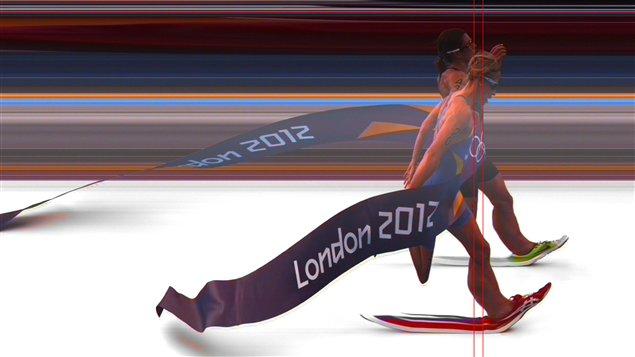 La photo d'arrivée du triathlon féminin des Jeux de Londres