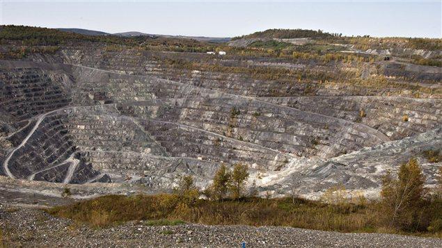 La mine Jeffrey à Asbestos, en Estrie.