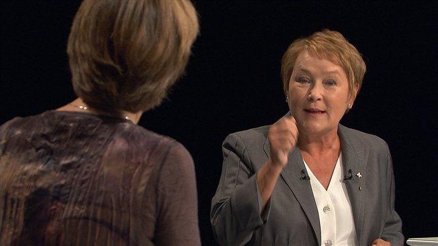 Pauline Marois réplique à Françoise David.