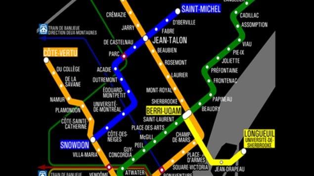 La ligne bleue du métro de Montréal