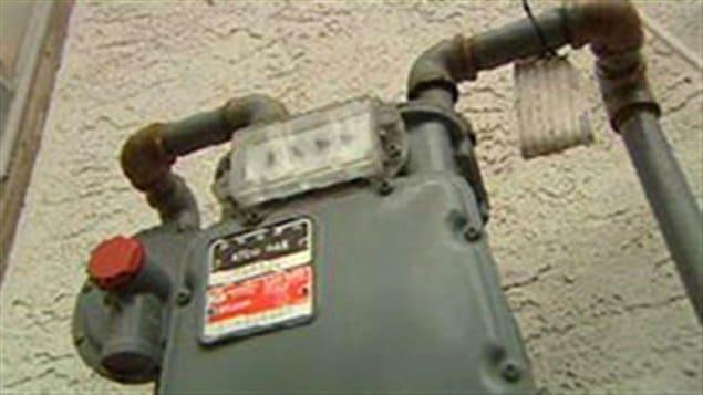 Un compteur de gaz naturel