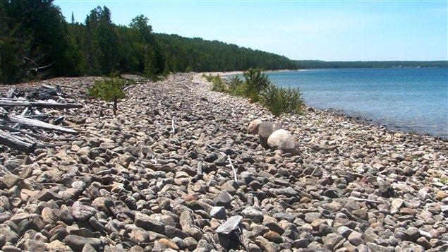 Une plage de l'île Cockburn, au coeur du lac Huron