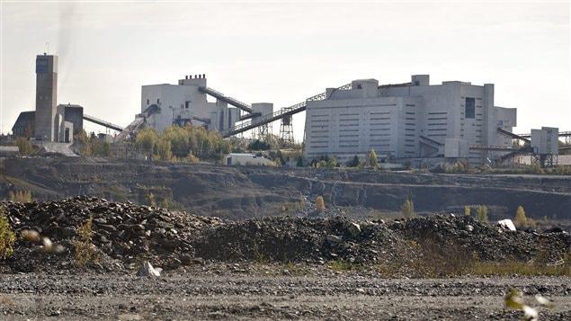 Les installations de la Mine Jeffrey, à Asbestos en Estrie