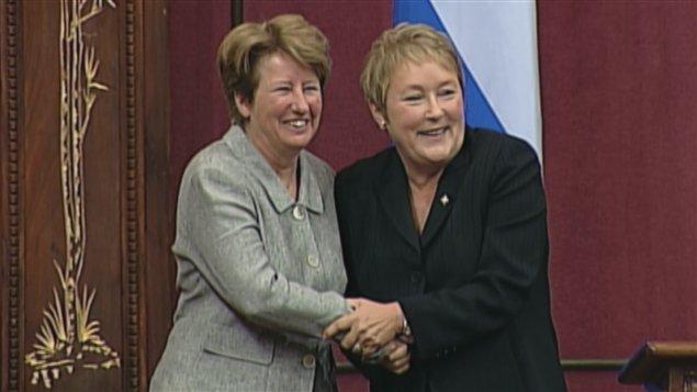Agnès Maltais et Pauline Marois à l'Assemblée nationale