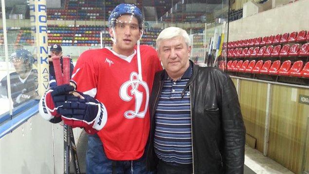 Alexander Ovechkin et son père, Mikhail
