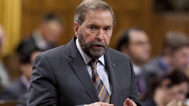 Le chef néo-démocrate Thomas Mulcair à la Chambre des communes, jeudi le 27 septembre 2012