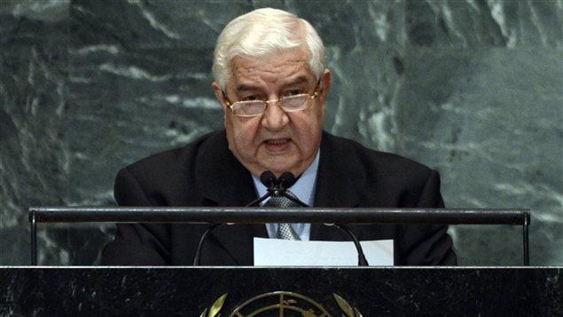 Le ministre syrien des Affaires étrangères, Walid Mouallem, lors de son allocution devant l'ONU