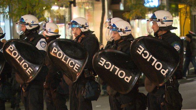 Agents du Service de police de la Ville de Montréal (SPVM)