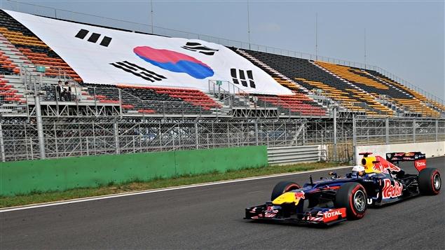 Sebastian Vettel sur la piste de Yeongam