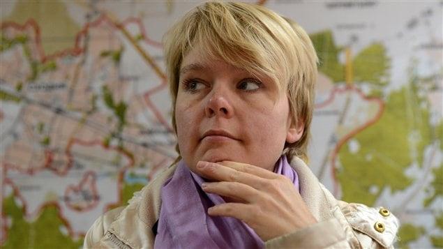 La militante de l'opposition Evguenia Chirikova
