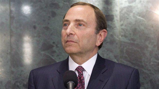 Le commissaire de la LNH, Gary Bettman