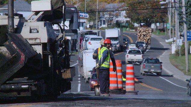 Travaux routiers en Gaspésie