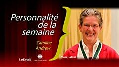 Caroline Andrew est la personnalité de la semaine Radio-Canada / Le Droit.