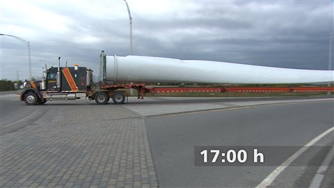 Transport d'une pale d'éolienne