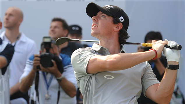 Rory McIlroy en marge du tournoi de Shanghai