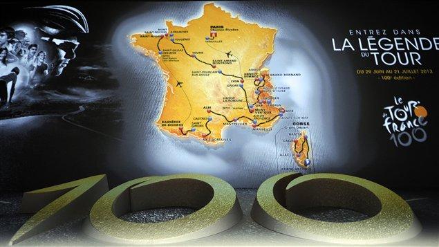La 100e édition du Tour de France sera présentée du 29 juin au 21 juillet 2013.