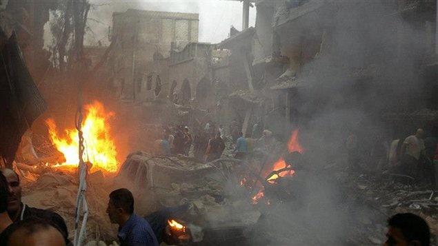 Le secteur de Daf Shawk à Damas