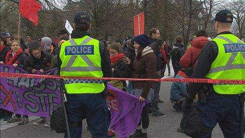 Intervention policière durant le conflit étudiant