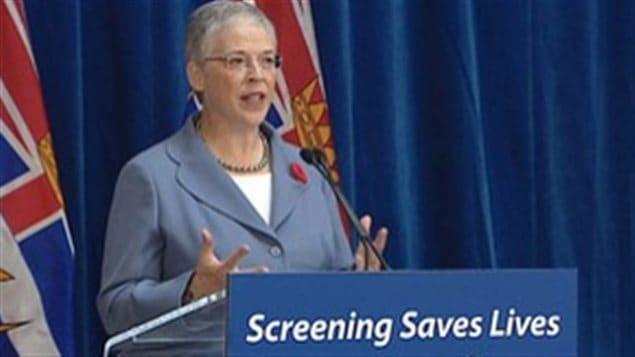 La ministre de la Santé, Margaret MacDiarmid