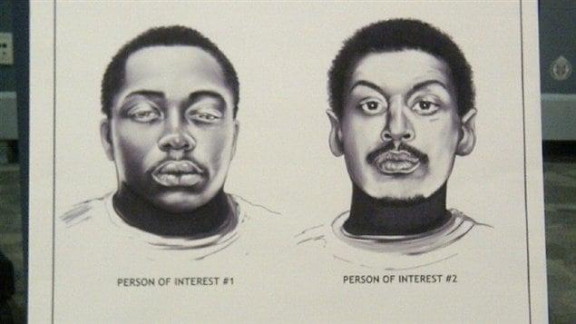 La police de Toronto cherche à trouver et à identifier ces deux hommes en lien avec la fusillade de la rue Danzig.