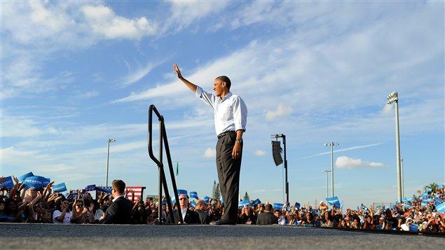 Barack Obama lors de rassemblement démocrate le 4 novembre dernier en Floride