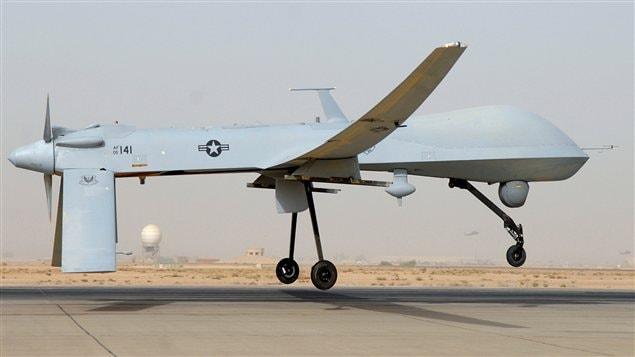 Un drone comme celui qui aurait été attaqué par des chasseurs iraniens dans le Golfe le 1er novembre.