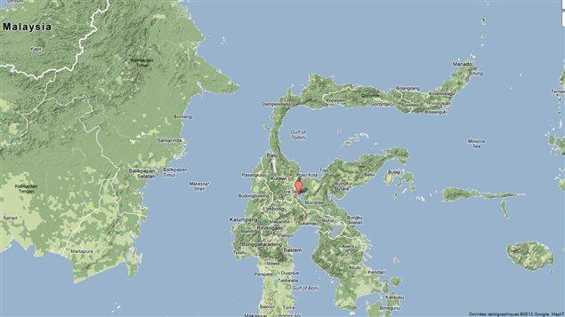 L'ïle de Sulawesi, en Indonésie