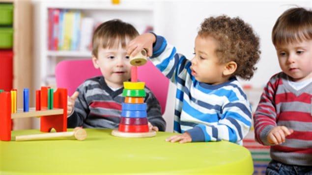 Des enfants dans une garderie
