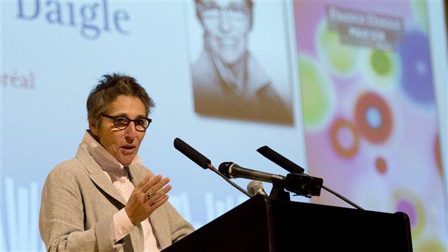 France Daigle lors de la remise du Prix littéraire du gouverneur général