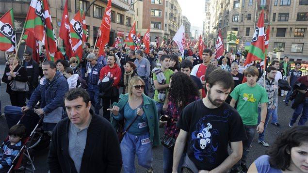 Manifestation à Bilbao, en Espagne