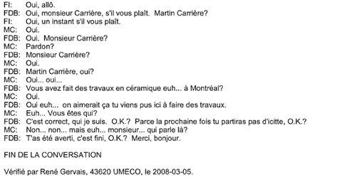Verbatim de la discussion entre Francesco Del Balso et Martin Carrier