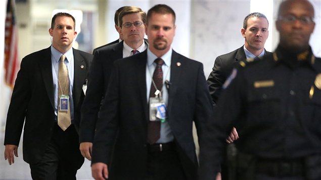 Le patron intérimaire de la CIA, Michael Morrell, lors de son arrivée au Congrès