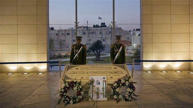 Le mausolée de Yasser Arafat, à Ramallah en Cisjordanie, dont le corps est exhumé pour savoir s'il a été empoisonné.