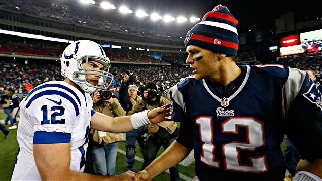 Andrew Luck et Tom Brady