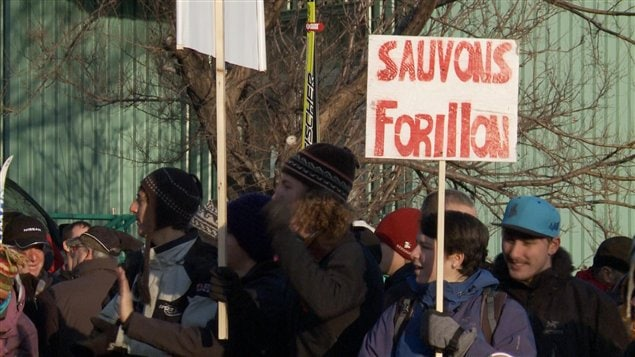 Manifestation pour le maintien des services hivernaux à Forillon