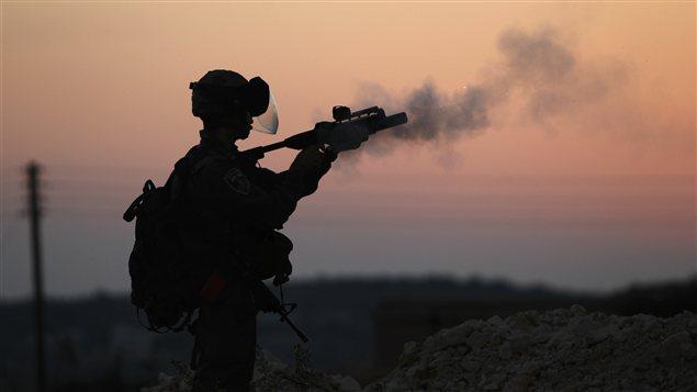 Un soldat israélien à Hebron, en Cisjordanie (archives)