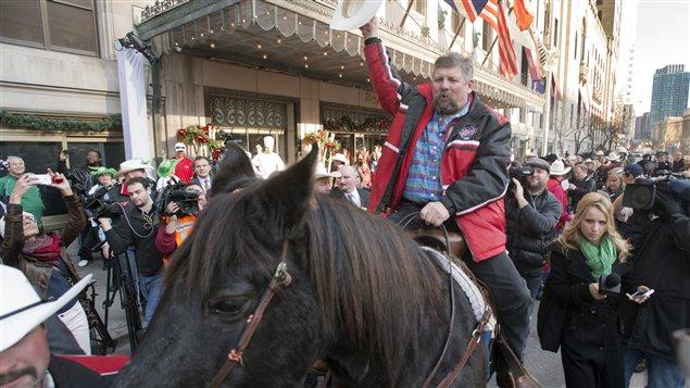 Fletcher Armstrong et le cheval Marty.