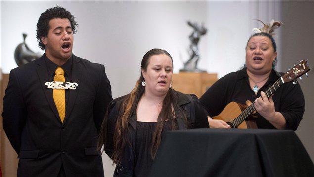 Des représentants du peuple maori au Musée des beaux-arts de Montréal