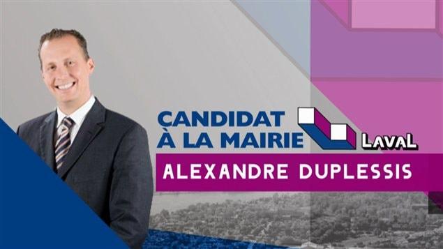Le candidat à la mairie Alexandre Duplessis