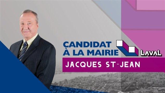Le candidat à la mairie Jacques St-Jean