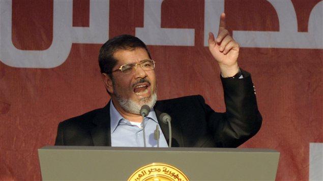 Le président égyptien Mohamed Morsi lors d'un discours en juin 2012.